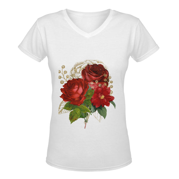 Rose Collection™ Deep V-neck Women's T-shirt