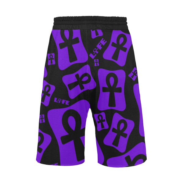 Ankh Life (Purple) Casual Shorts