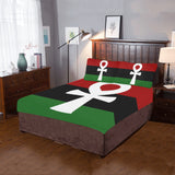 Nu Garveyite (White Ankh) 3-Pieces Bedding Set