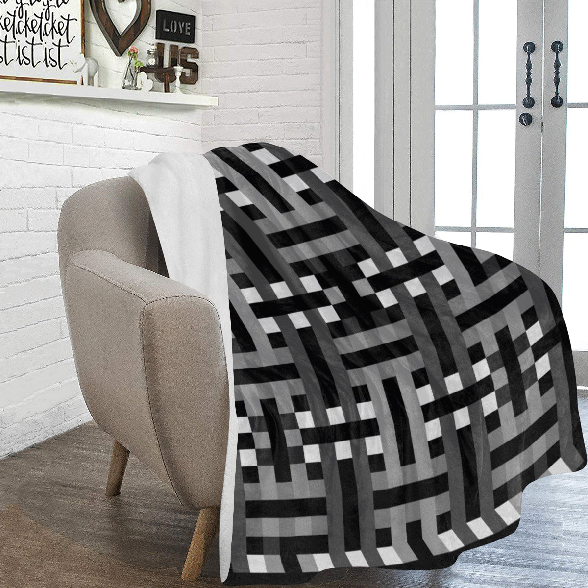 "MB - Black Soft Micro Fleece Blanket 60""x80"""