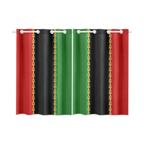 "RBG - Ankh Kitchen/Bedroom Curtains 26"" X 39"" (Two Piece)"