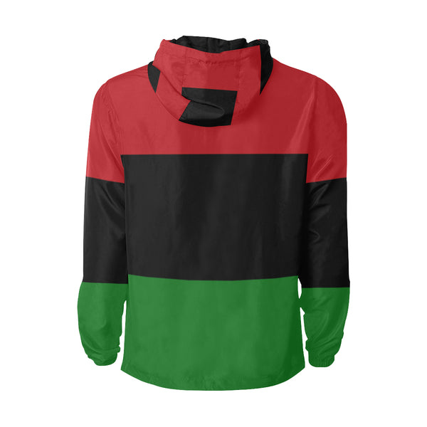 Red Black Green Flag Quilted Jacket