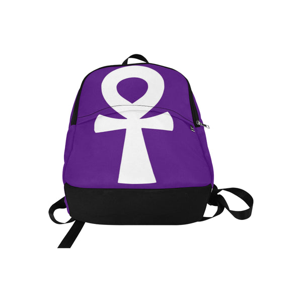 Purple/White Ankh Classic Backpack
