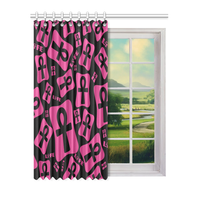 "Ankh Life (Pink) Window Curtain 52"" x 63""(One Piece)"
