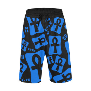 Ankh Life (Blue) - Casual Shorts