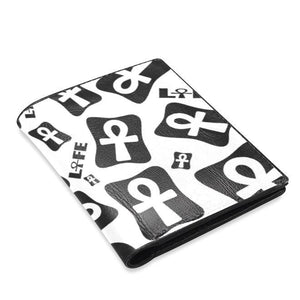 Ankh Life (White) Men's Leather Wallet