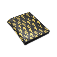Black and Gold Ankh BiFold Wallet