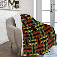 "MB - Red/Gold/Green Fleece Blanket 60""x80"""