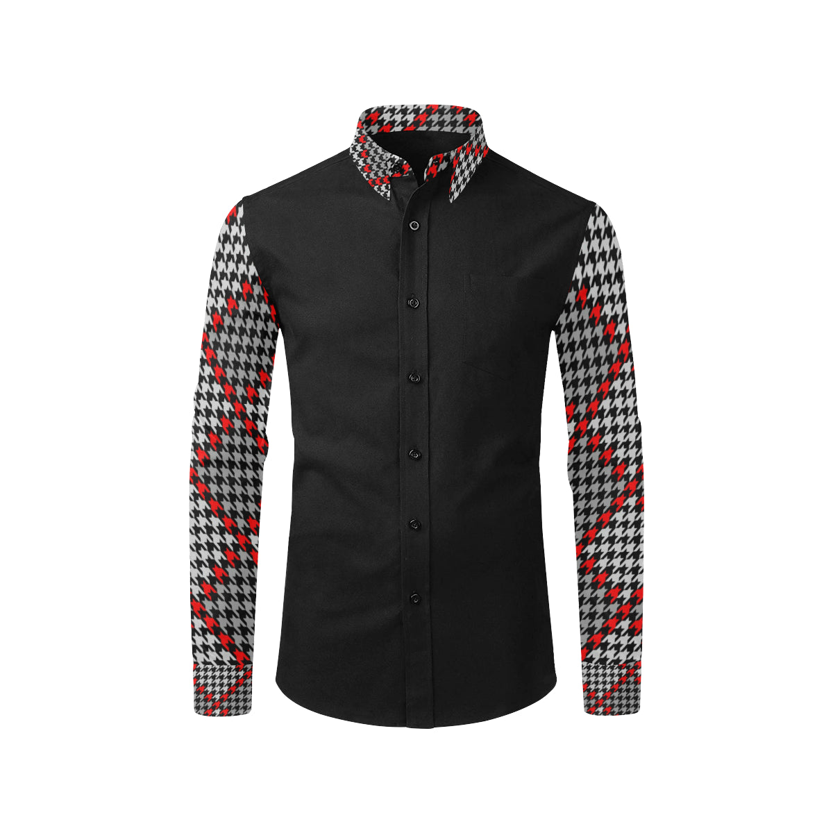 Red Tweed Dress Shirt