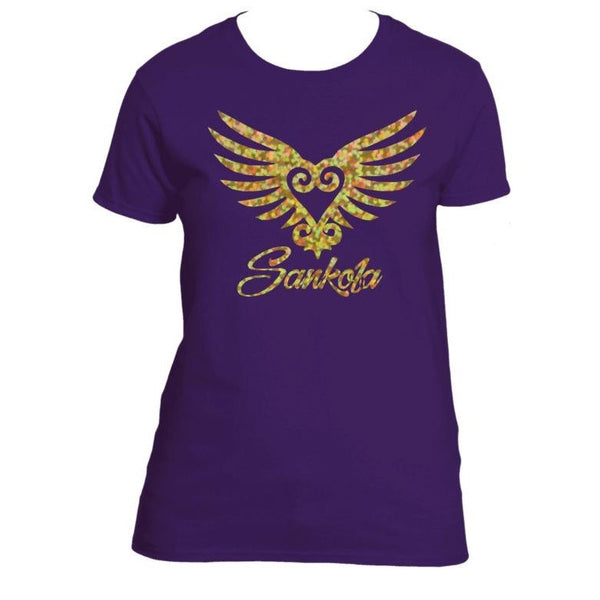 Holographic Winged Sankofa (Gold)