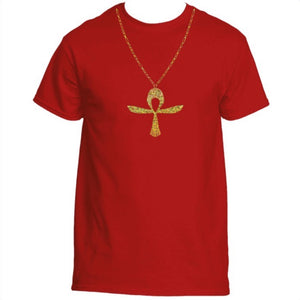 Holographic Ankh Chain (Men's) (Gold)