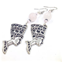Rose Quartz Nefertiti Earrings