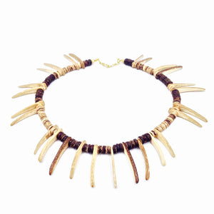 Natural Vibes Coconut Spike Neckpiece