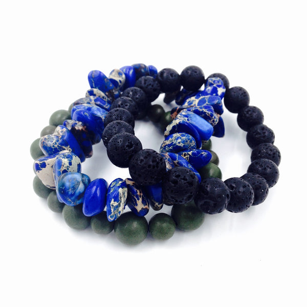 Blue Sediment Bracelet Set