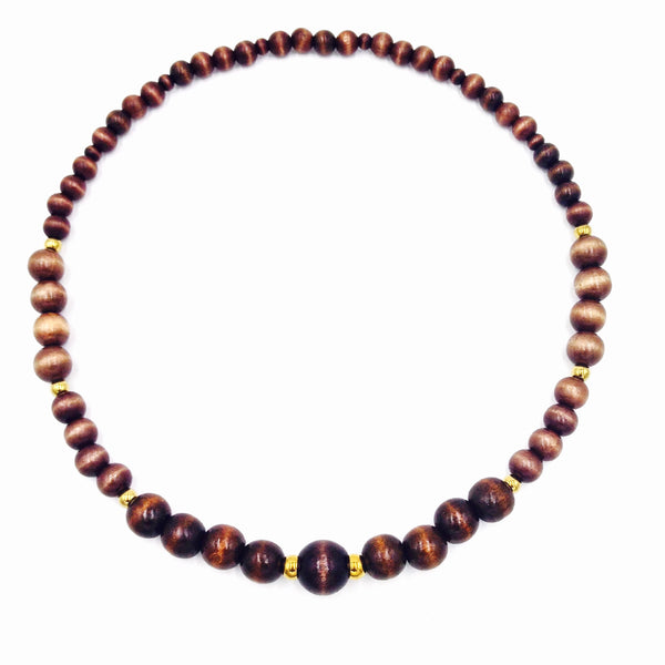 Ebony Wood Necklace (Dark or Light)