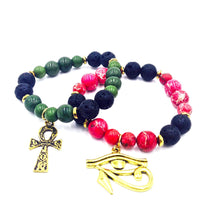 Pan African KMT Bracelet 2Pc Set (Gold)