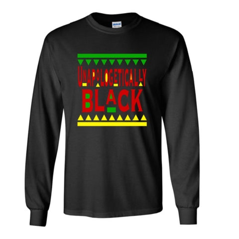 Unapologetically Black - RYG (Long Sleeve) (Men)