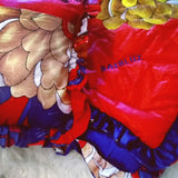 African Ankara Flower Quilted Baby Reversible Comforter and Pillow Sham Set