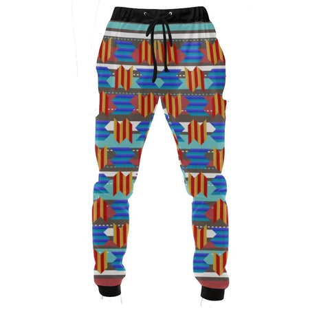 WAVEY ZIG-ZAG Men's All Over Print Joggers
