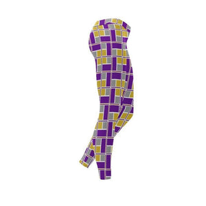 Purple and Gold Rec-Tec™ Leggings