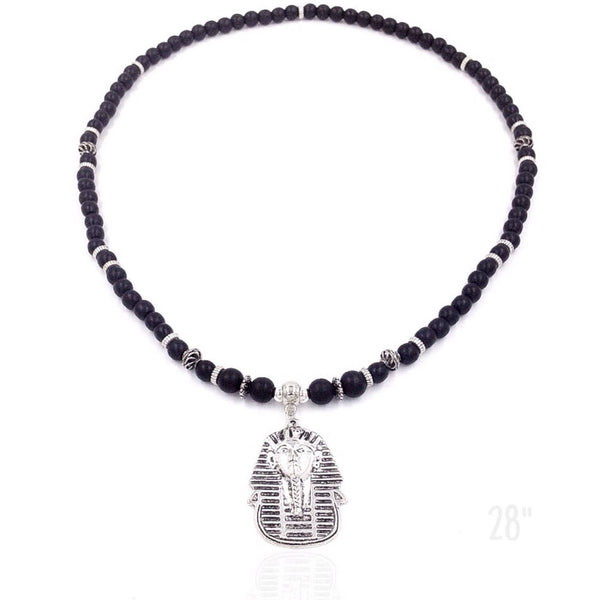 Black Wood / Silver Pharaoh Neckpiece