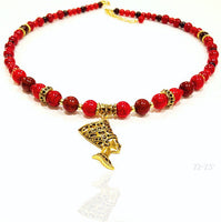 Goddess Neckpiece (Red/CoffeeBrown)