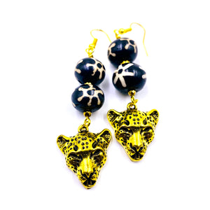 Tribal Panther Earrings