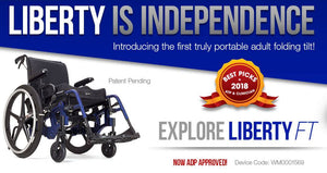 Portable, Lightweight Tilt-In-Space Wheelchair- The Liberty FT by Ki Mobility