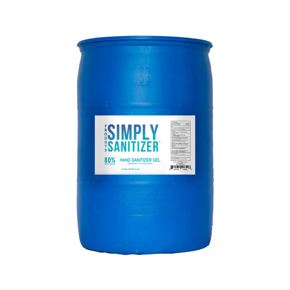 50 Gallon Drum, Bulk Hand Sanitizer by Froggys- Gel Formula with 80% Alcohol