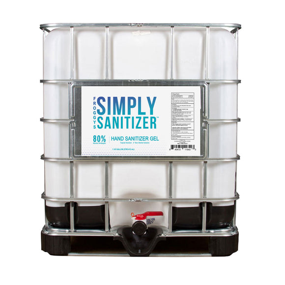 250 Gallon Tote, Bulk Hand Sanitizer by Froggys- Gel Formula with 80% Alcohol