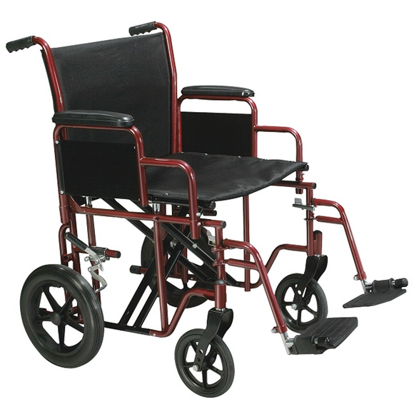 Drive Medical Heavy Duty Transport Chair- 450lb Capacity