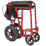 "Drive Medical Lightweight Transport Chair-  Expedition w/ 12"" Rear Wheels"
