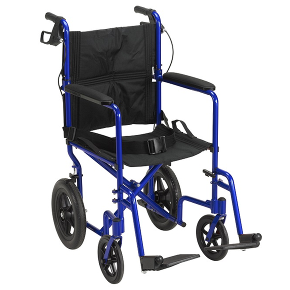 Drive Medical Lightweight Transport Chair-  Expedition w/ 12