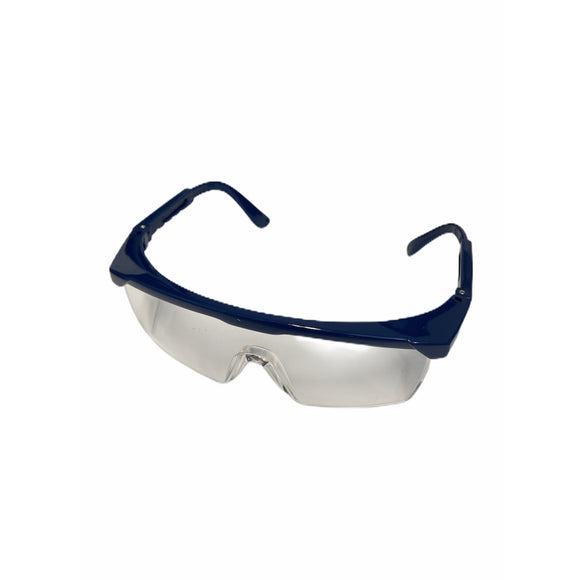 Safety Glasses - Clear Lense and Blue Frame Qty 1