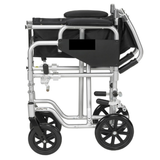 Drive, Poly -Fly High Strength, Lightweight Wheelchair | Flyweight Transport Chair Combo