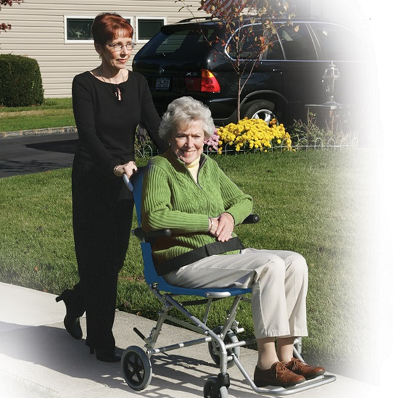 Drive SuperLight, Folding Transport Chair with Carry Bag and Flip Back Arms