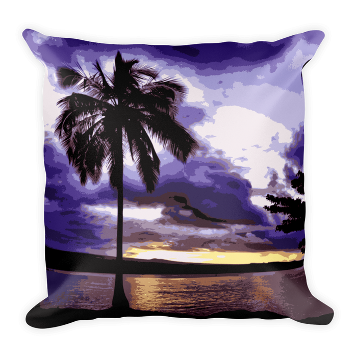 Hilo Bay at Dusk Square Pillow