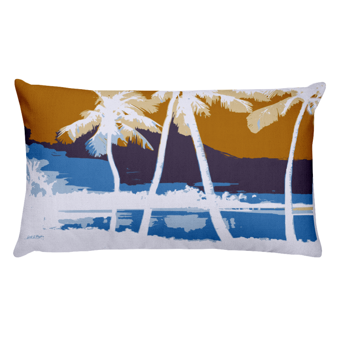 Hawai'ian Palms Rectangular Pillow