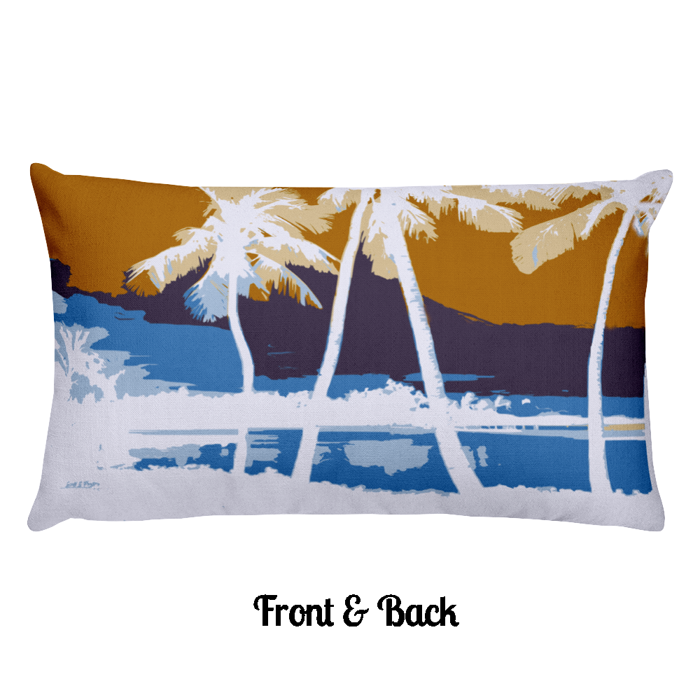 Hawai'ian Palms Rectangular Pillow - Shella Island Products,, Pillow's - Yoga Leggings, Shella Island Products - Asana Hawaii