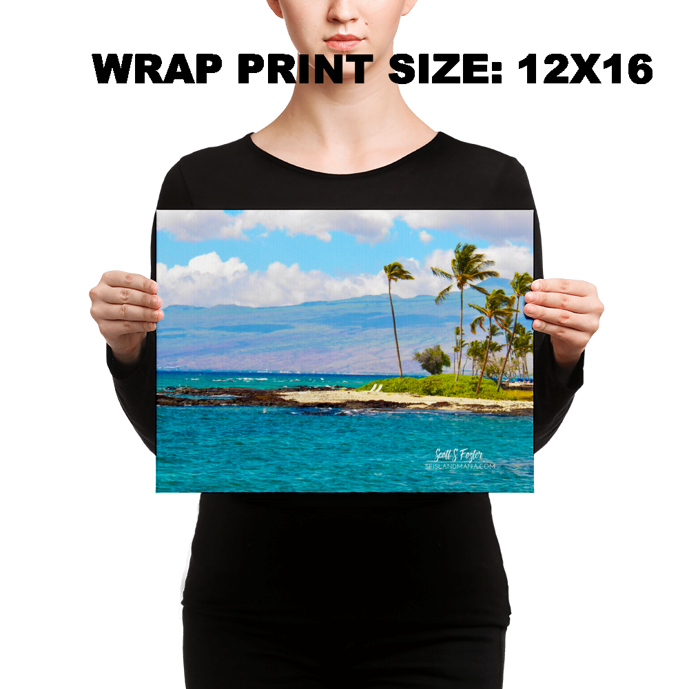 Mauna Lani Bay Canvas Photo Giclée Sizes: 12x16 full and 12x16 wrap