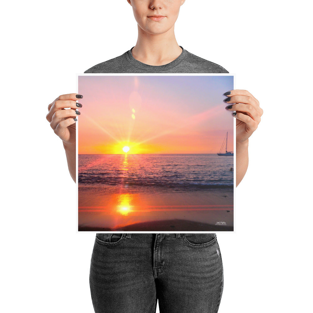 ABAY PRISM SUNSET - GLOSSY PHOTO PAPER - SIZE: 14x14 in - Shella Island Products,, Photo Print - Yoga Leggings, Shella Island Products - Asana Hawaii