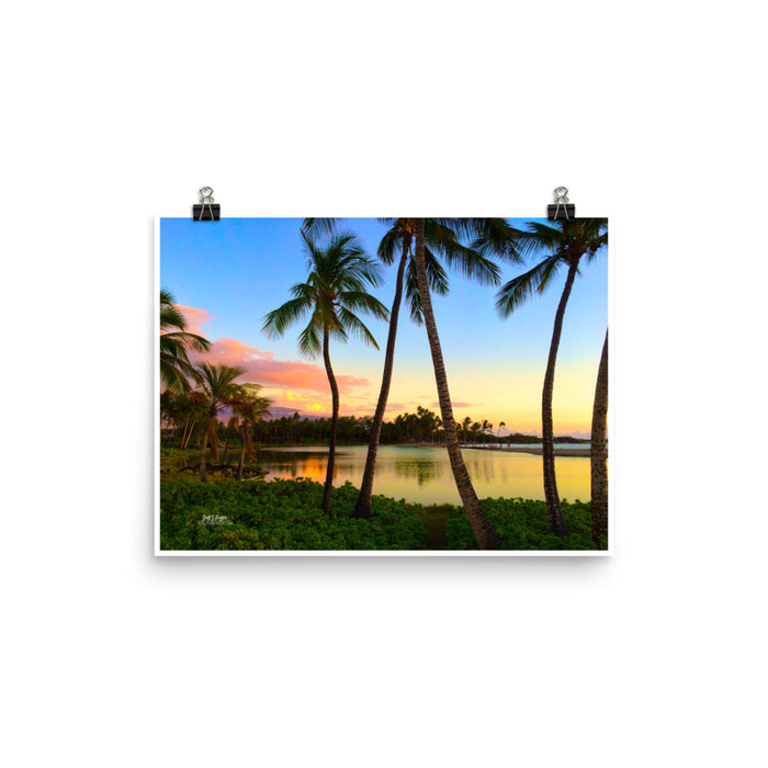 ABay at Dusk GLOSSY PHOTO PAPER SIZE: 12x16 in - Shella Island Products,, Photo Print - Yoga Leggings, Shella Island Products - Asana Hawaii