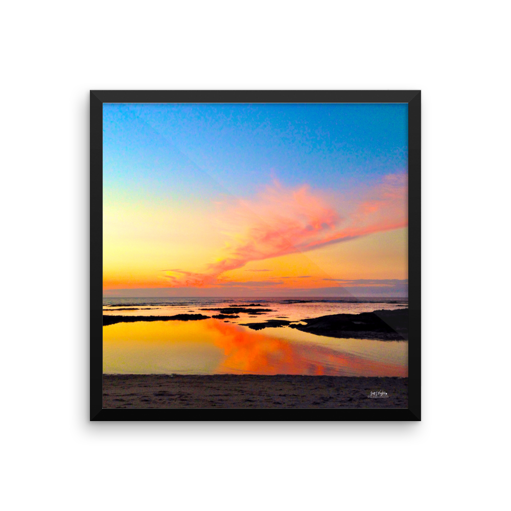 Mauna Lani Tide Pool Sunset Framed Photo Paper - Shella Island Products,, Photo Print - Yoga Leggings, Shella Island Products - Asana Hawaii