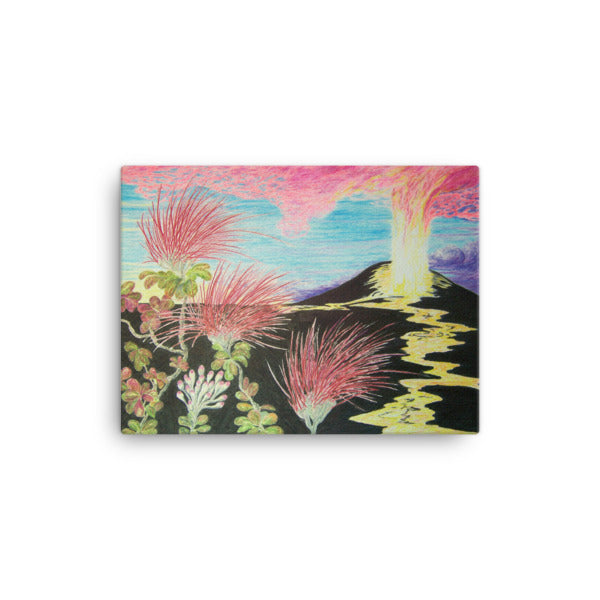 PU'U O'O MORNING RISE Giclée Canvas Print- Size: 12x16 (Two of a Three panel triptych) - Shella Island Products,, Canvas Prints - Yoga Leggings, Shella Island Products - Asana Hawaii