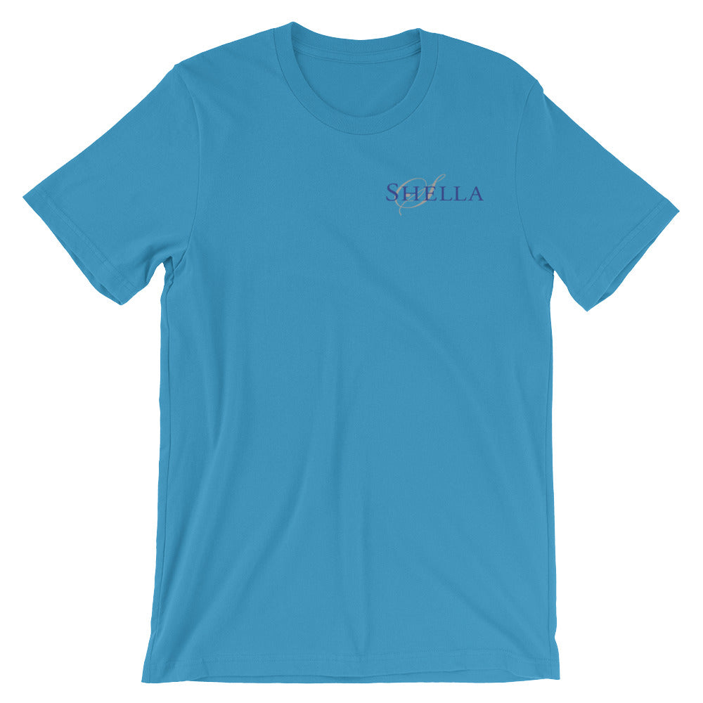 Shella Logo- Unisex short sleeve t-shirt (super-soft, baby-knit) - Shella Island Products,, T-Shirts - Yoga Leggings, Shella Island Products - Asana Hawaii
