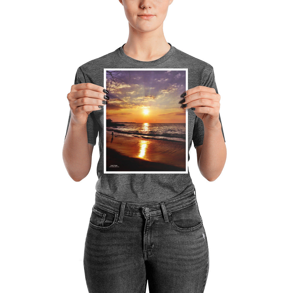BEACH 69s SUNSET - GLOSSY PHOTO PAPER SIZE: 8x10 in