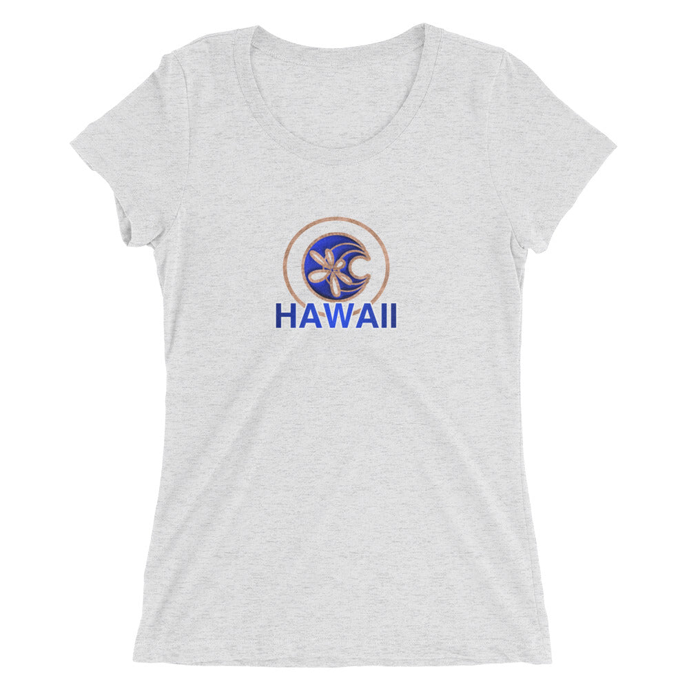 Shella Island Products Ocean Reflective Scoop Neck Ladies' short sleeve t-shirt - Shella Island Products,, Women's - Yoga Leggings, Shella Island Products - Asana Hawaii