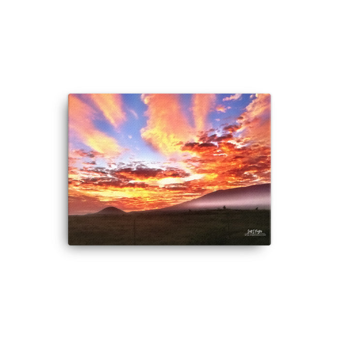 Mauna Kea Sunrise Canvas Giclée Photo Print- Size: 12x16 - Shella Island Products,, Canvas Prints - Yoga Leggings, Shella Island Products - Asana Hawaii