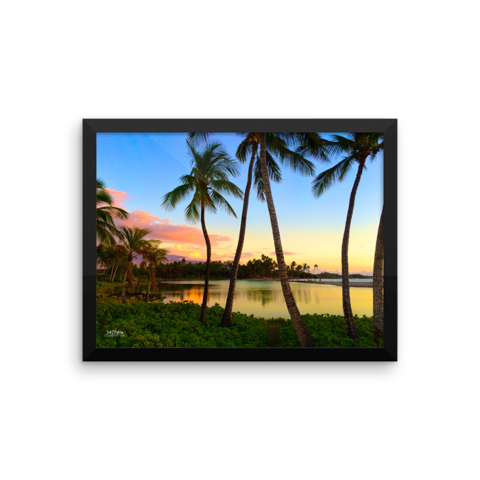 ANAEHO'OMALU BAY AT DUSK - Framed photo paper