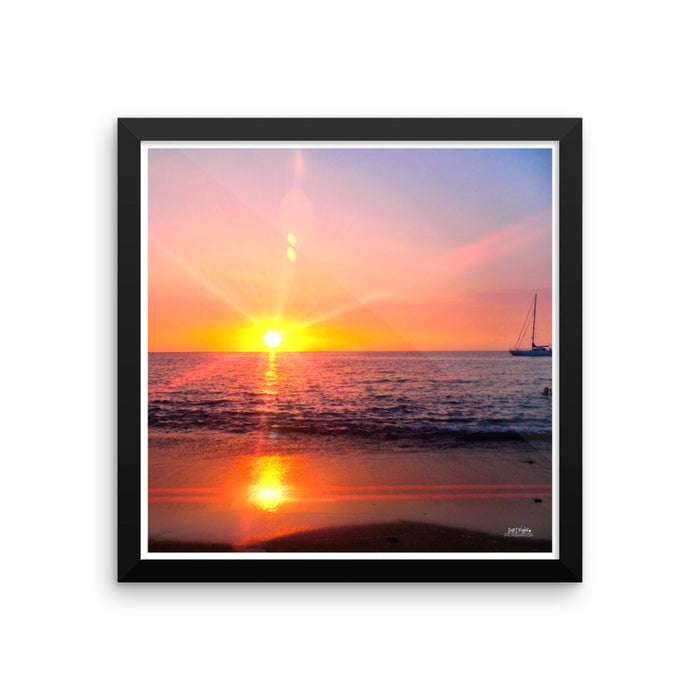 ABAY PRISM SUNSET FRAMED - GLOSSY PHOTO PAPER - SIZE: 14X14 in - Shella Island Products,, Photo Print - Yoga Leggings, Shella Island Products - Asana Hawaii